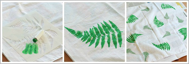stencil designs onto your homemade gift wrap