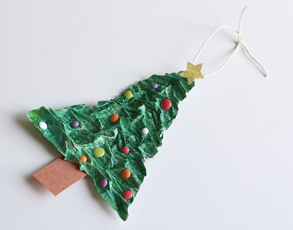 Homemade Christmas Ornaments for Kids to Make: Paper Mache Christmas Tree