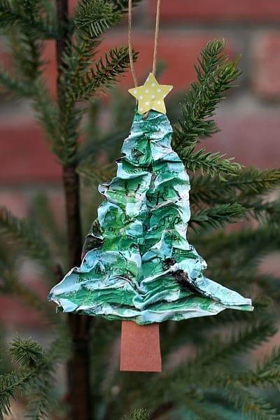 Homemade Christmas Ornaments for Kids to Make: Paper Mache Christmas Tree