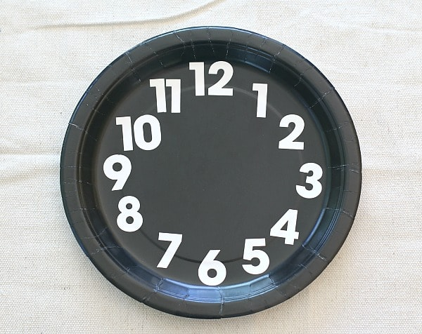 add numbers to your clock craft