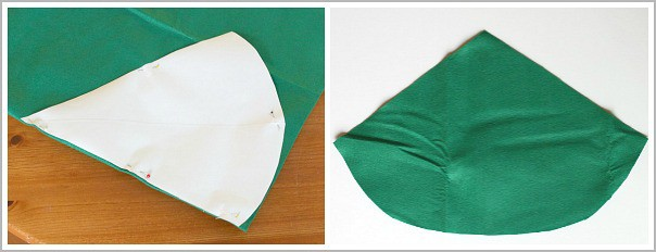 cut out your felt for your elf hat