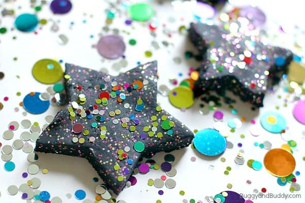 Celebration Playdough Recipe: Perfect for New Years or a Birthday!~ BuggyandBuddy.com