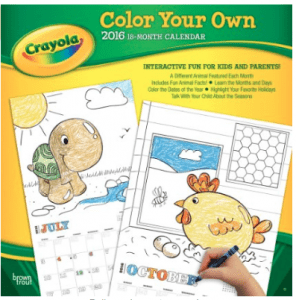 crayola color your own calendar