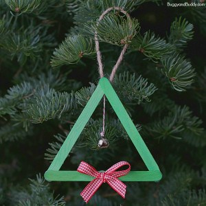 Popsicle Stick and Jingle Bell Christmas Tree Ornament