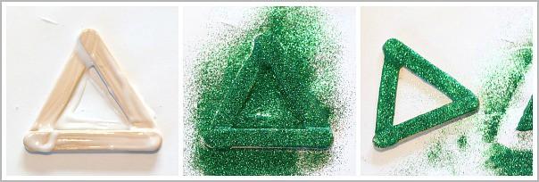 how to make a glittery christmas tree ornament