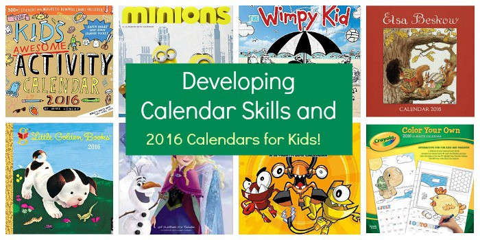 2016 Wall Calendars for Kids: How calendars help children with math skills, time management skills, and even help children prepare for upcoming events. (preschool, kindergarten, and elementary)