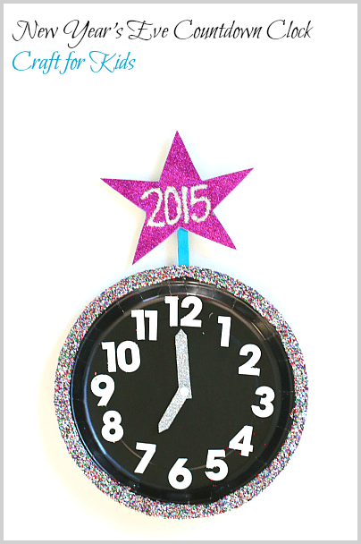 New Year\'s Eve with Kids: Countdown Clock Craft Using Paper Plates ...