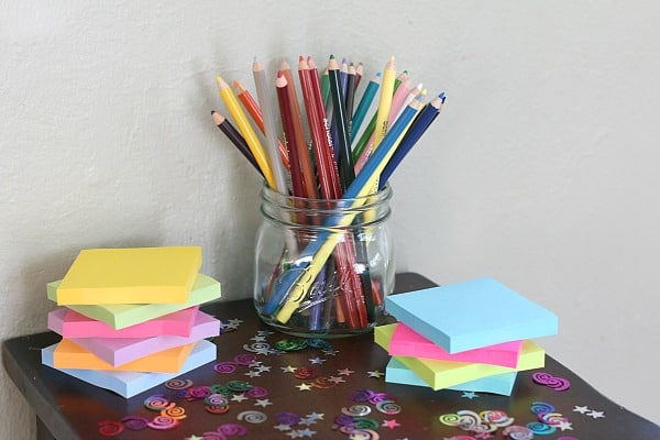 new years activity for kids: create a wishing wall