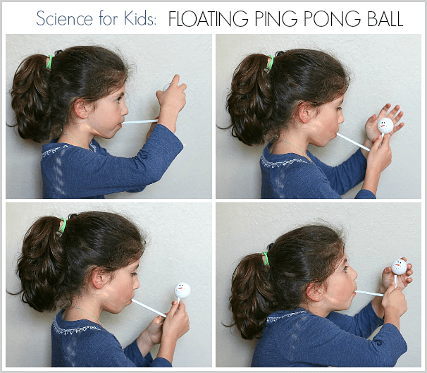 Cool Science for Kids: Floating Ping Pong Ball~ BuggyandBuddy.com