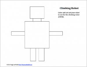 free printable robot template for climbing robot