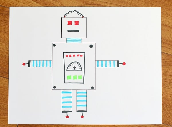 color your robot template