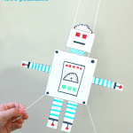 Robot Craft for Kids: Free Printable Gliding Robot