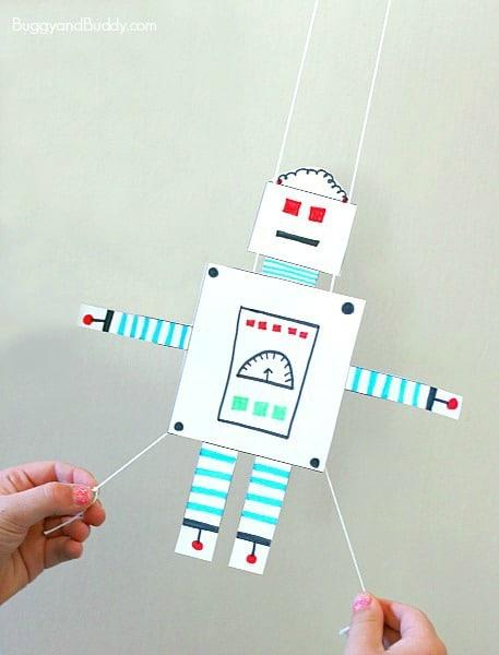 Free Printable Robot Glider Craft for Kids