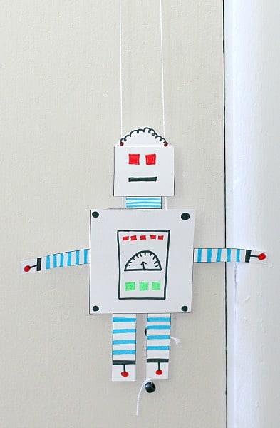 free printable climbing robot craft for kids