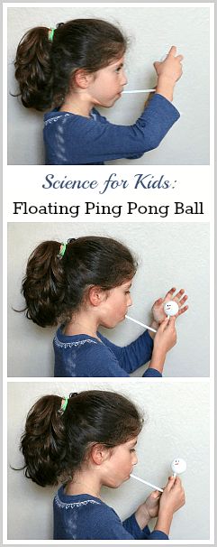 Cool Science for Kids: Floating Ping Pong Ball Activity~ BuggyandBuddy.com