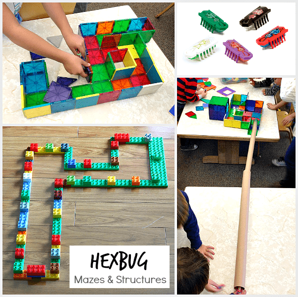 Creating Hexbug Mazes and Structures in the Classroom and at Home! ~ BuggyandBuddy.com