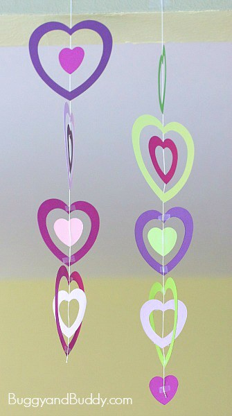 Easy Valentines Day Craft For Kids Pinterest additionally Crayone Heart Suncatcher in addition Blog Heart Ornament additionally Hand Sewn Paper Heart Valentine Crafts For Kids E further Diy Felt Heart Headband. on valentine crafts kids paper heart mobile