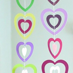 Valentine Crafts for Kids: Paper Heart Mobile