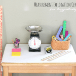 Math Activities for Preschoolers: Measurement Exploration Center