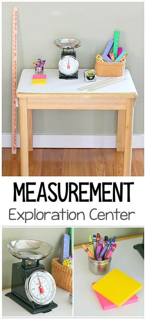 Measurement Exploration Center: Hands-on measurement activities for kids- math for preschool and kindergarten