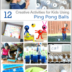12 Creative Activities for Kids Using Ping Pong Balls