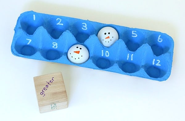 snowman math game for kids