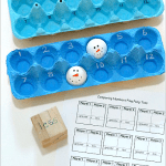 Comparing Numbers: Ping Pong Ball Toss Math Game for Kids~ BuggyandBuddy.com