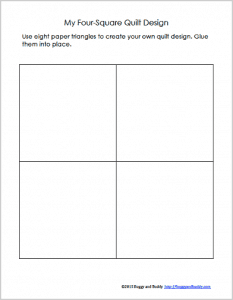 Geometry for Kids: Quilt Activity Using Triangles (Free Printable ... : blank quilt squares - Adamdwight.com