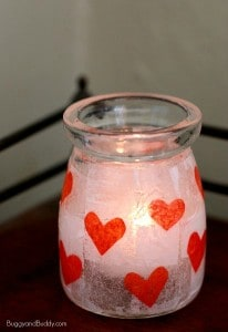 Easy Valentine Crafts for Kids: Heart Votives