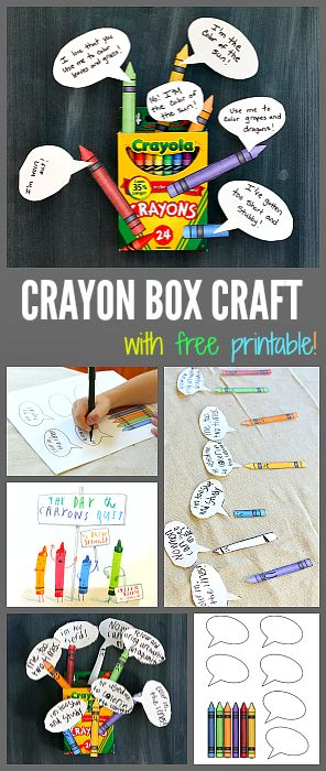 Crayon Box Craft for Kids inspired by The Day the Crayons Quit