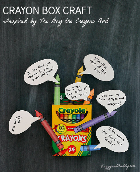Crayon Box Craft and Retelling Activity based on The Day the Crayons Quit by Oliver Jeffers~ BuggyandBuddy.com