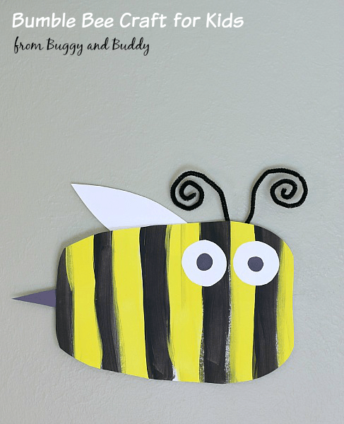 Simple Bumble Bee Art Project for Kids~ BuggyandBuddy.com