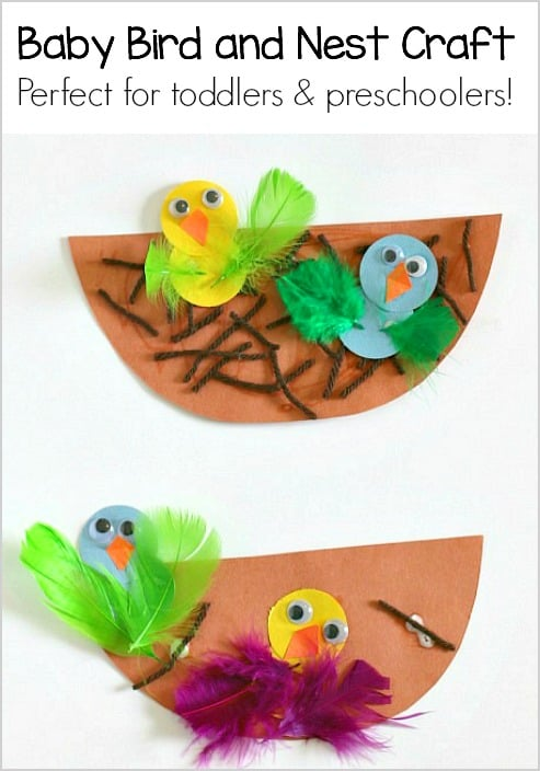 Spring Crafts For Kids Nest And Baby Bird Craft Buggy And Buddy