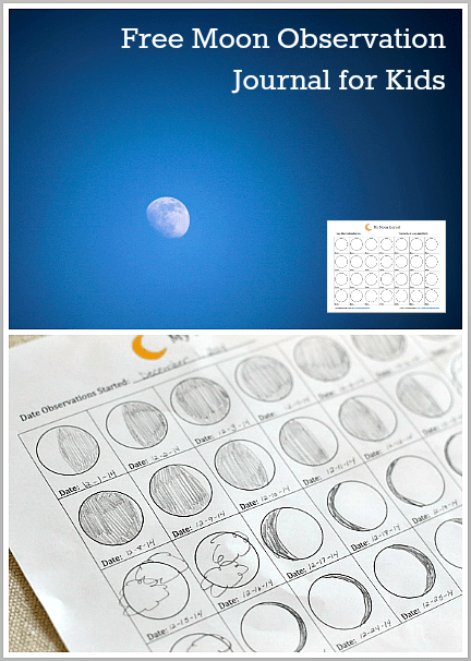 Astronomy for Kids: Moon Journal (Free Printable) - Buggy ...