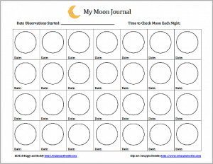 astronomy for kids moon journal free printable buggy and buddy. Black Bedroom Furniture Sets. Home Design Ideas