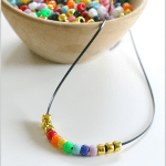 St. Patrick's Day Crafts for Kids: Beaded Rainbow Necklace