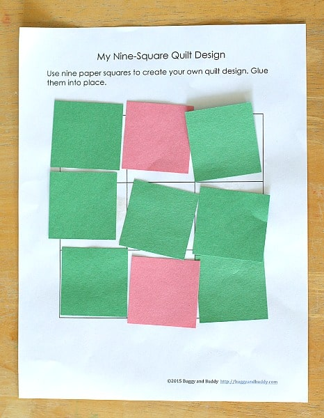 Preschool Quilt Craft