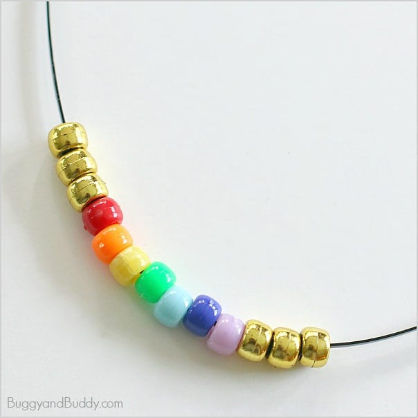 Beaded Rainbow Necklace Craft For Kids Buggy And Buddy