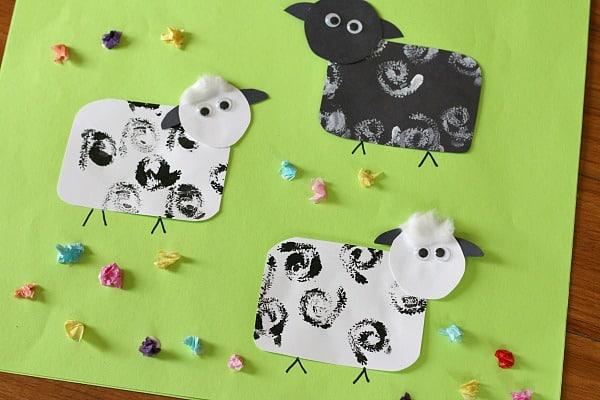 Spring Crafts for Kids: Sheep Craft for Kids