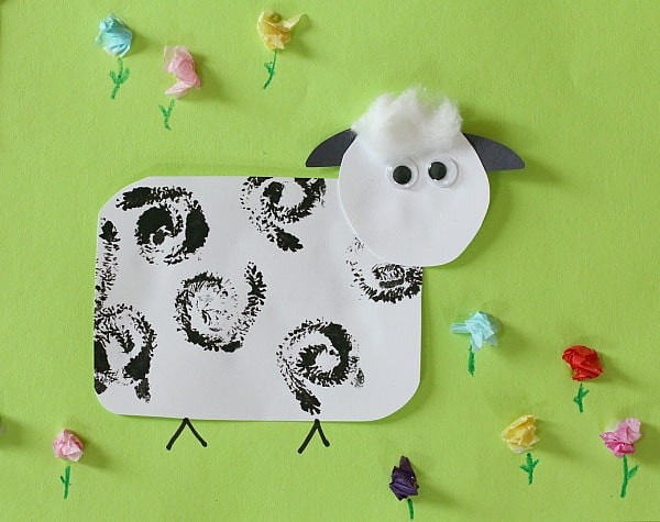Stamped Sheep Craft For Kids Buggy And Buddy