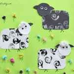Spring Crafts for Kids: Stamped Paper Sheep