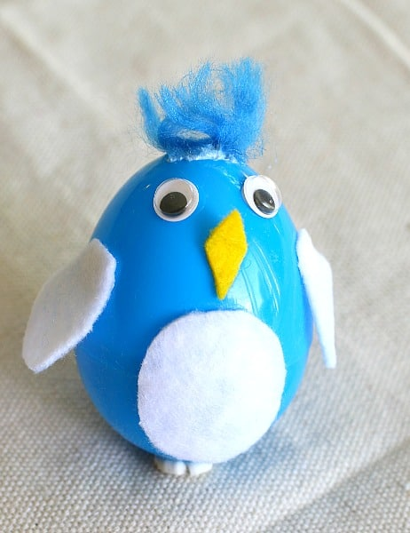 Baby Bird Egg Shaker Filled with Birdseed