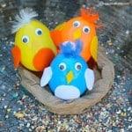 Baby Bird Plastic Egg Shakers Craft for Kids