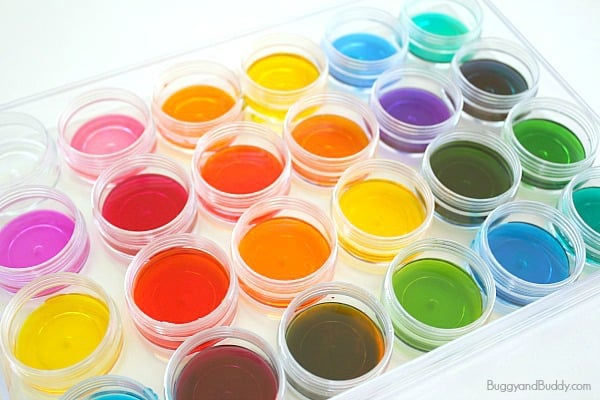 Art and Science for Kids: Mixing Colors in an Array