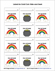 labels for st. patrick's day math game