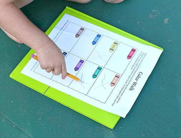 Free Printable Color Walk Scavenger Hunt