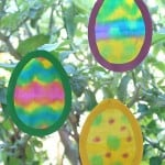 Easter Crafts: Egg Suncatchers Made with Painted Fabric