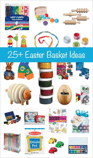 25+ Easter Basket Ideas (Art supplies, toys, and activities)~ BuggyandBuddy.com