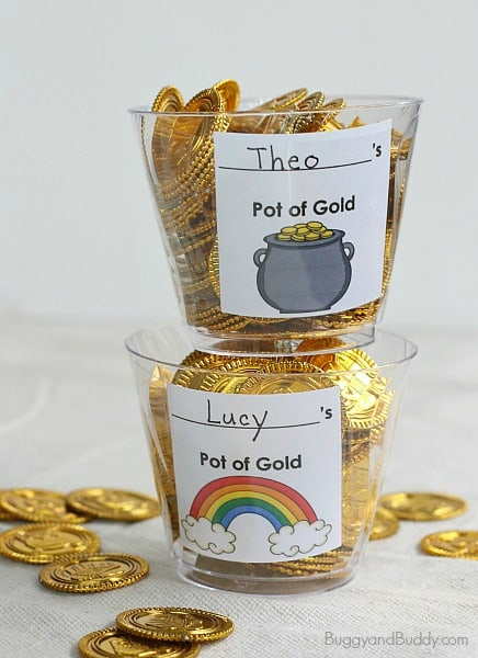 Math Games for Kids: St. Patrick's Day Gold Coin Hide-and-Seek~ BuggyandBuddy.com