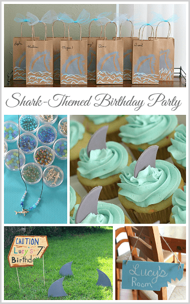 Shark Themed Birthday Party (w/ shark activities, crafts and more!) ~ BuggyandBuddy.com